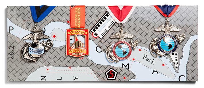 Carolynn Baker Matthew - Marathon Medals - Carolynn Baker